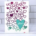 Learn How TO Make This Simple Friend Card Made with Hearts