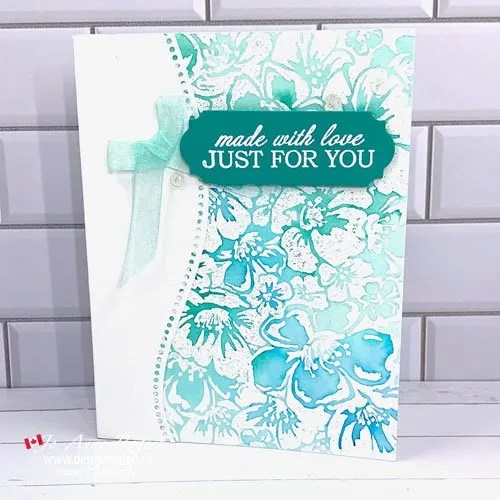 WOW! Use a Background Stamp to Make a Card with the Curvy Dies and Wild Roses