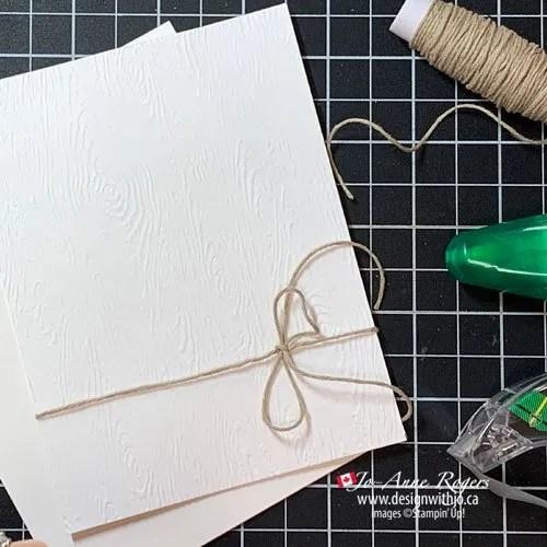 Dead Easy Ribbon Tip for Handmade Cards