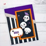 Fun Halloween Boo Card Made with Cute Halloween Paper from Stampin