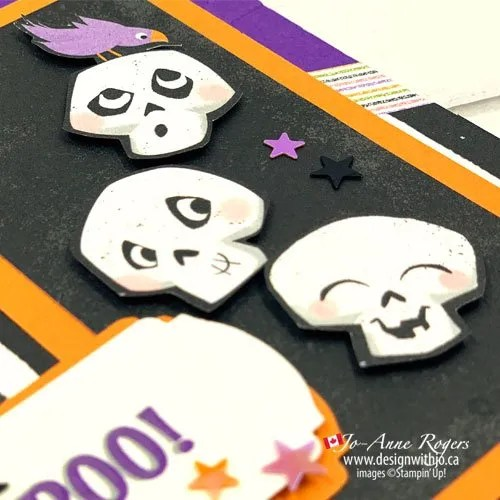 Fun Halloween Boo Card Made with Cute Halloween Paper from Stampin' Up!