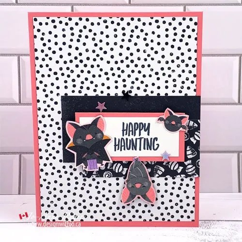 Cute and Simple Halloween Card with Cute Halloween DSP