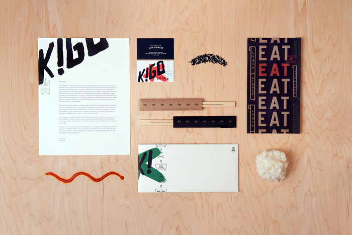 Creature Kigo Kitchen Identity and Collateral  Design