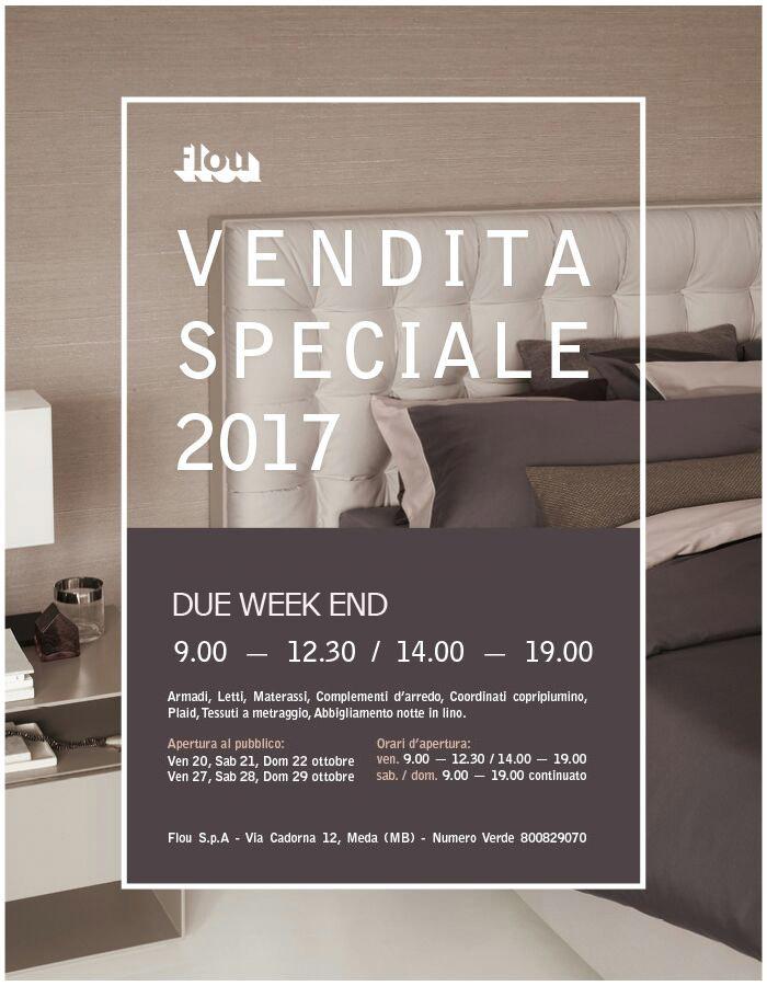 Flou: vendita speciale 2017