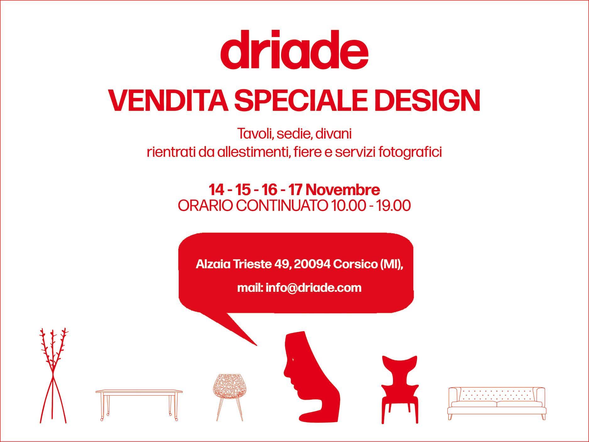 Driade-vendita-promozioanle-2019
