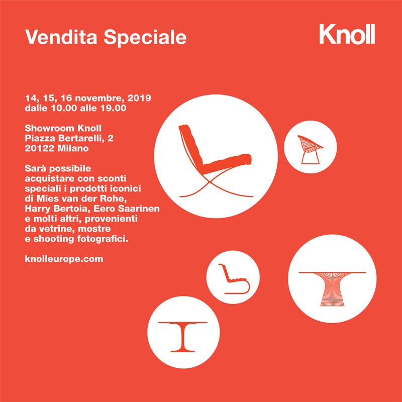 Knoll_invito_Vendita Speciale_14-16 Novembre 2019