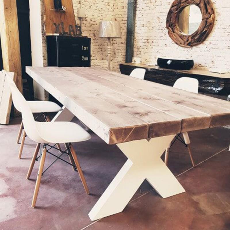 gambe fresate per tavolo modello giorgione pronte per la consegna. Tavolo Da Pranzo In Legno Con Gambe X Ora In Sconto 15