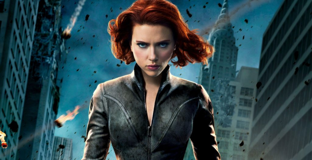 Scarlett Johansson as the Black Widow Superhero