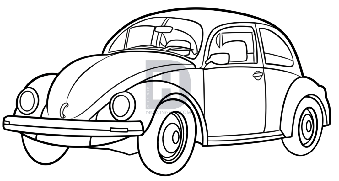 How to draw a car with these pictured step by step tutorials