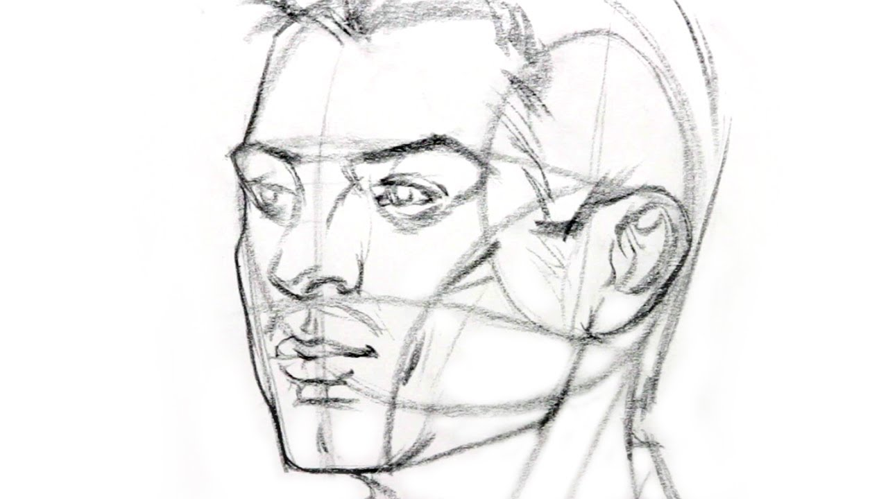 How to draw heads and faces at different angles
