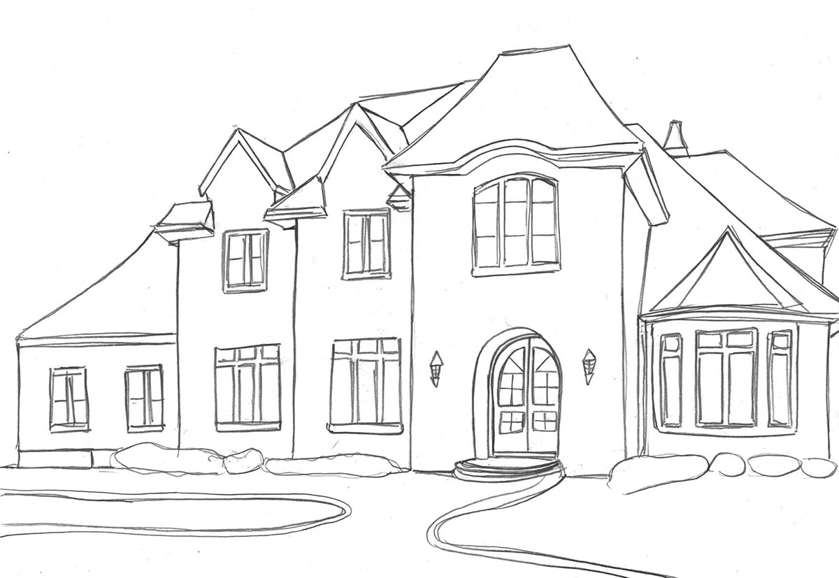 How to draw a house, drawing tutorials to help you sketch