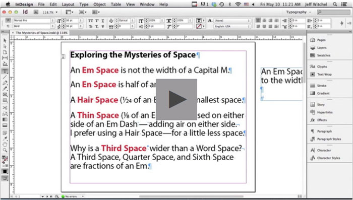 Adobe InDesign tutorial examples that will teach you how