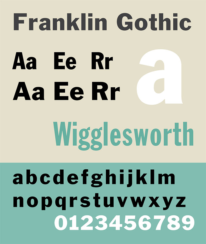 Franklin-Gothic Elegant Fonts That You Should Include in Your Designs