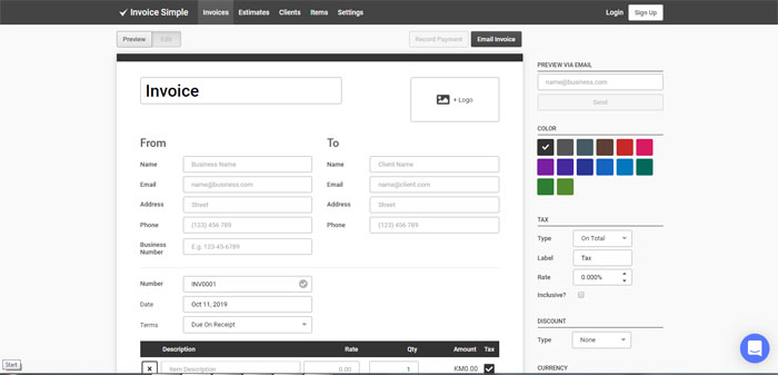 Graphic design invoice templates you can use for your clients