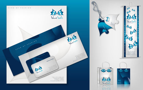 BlueBells logo and products - Letterhead And Logo Design Inspiration