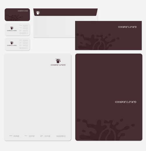 Cooper & Ford - Letterhead And Logo Design Inspiration