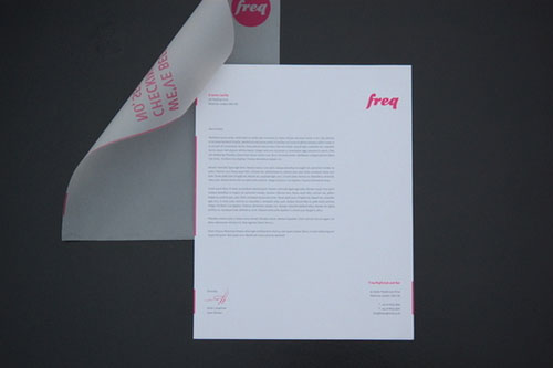 Freq Nightclub - Letterhead And Logo Design Inspiration