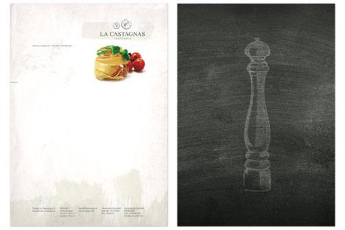 La Castagnas - Letterhead And Logo Design Inspiration