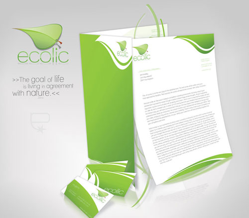ecolic corporate identity - Letterhead And Logo Design Inspiration