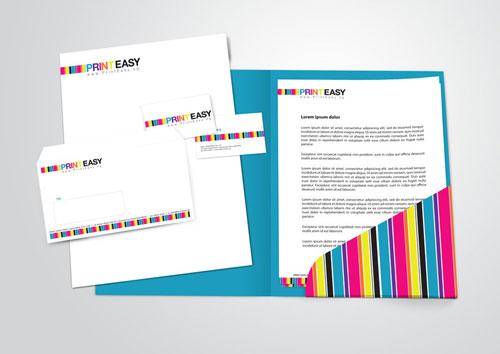 PrintEasy Stationery Set Letterhead And Logo Design
