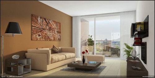 interior design for small living room grey and orange wallpaper ideas 65 designs livingroom7
