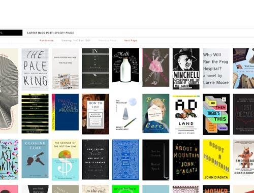 bookcoverarchive.com - Minimalist site