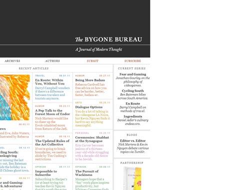 bygonebureau.com - Minimalist site