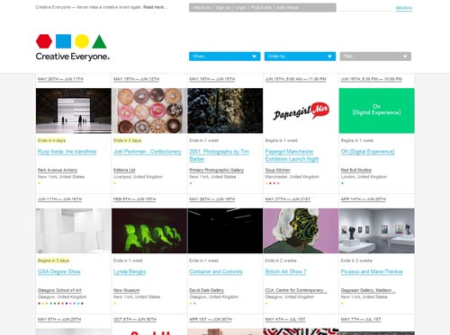 creativeeveryone.com - Minimalist site