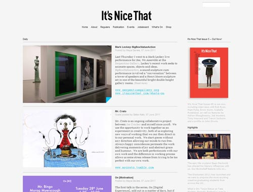 itsnicethat.com - Minimalist site