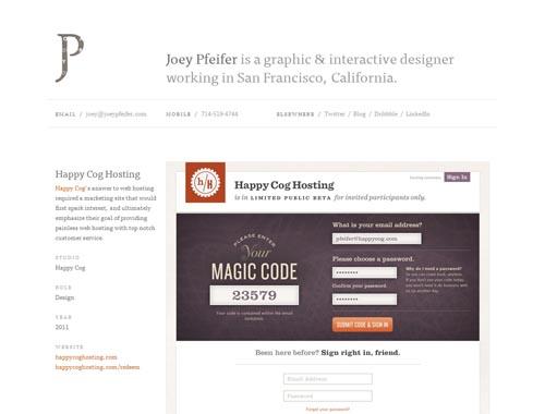 joeypfeifer.com - Minimalist site