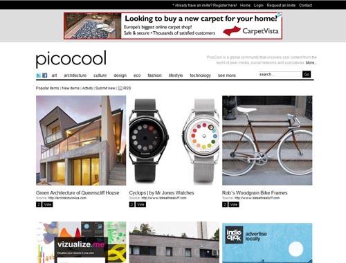 picocool.com - Minimalist site