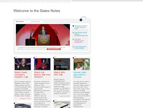 thegatesnotes.com - Minimalist site
