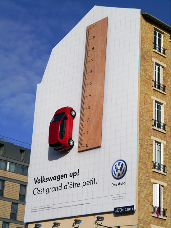 It's great to be small. Outdoor Advertising