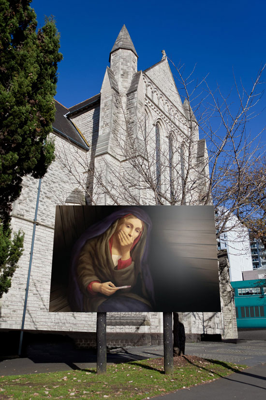 St Matthew in the City Church: Mary Christmas Outdoor Advertising