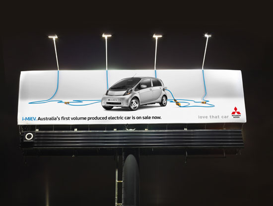 Australia's first volume produced electric car is on sale now Outdoor Advertising