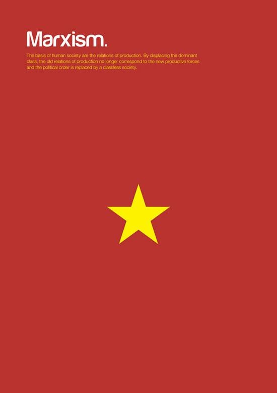 marxism minimalist graphic design poster