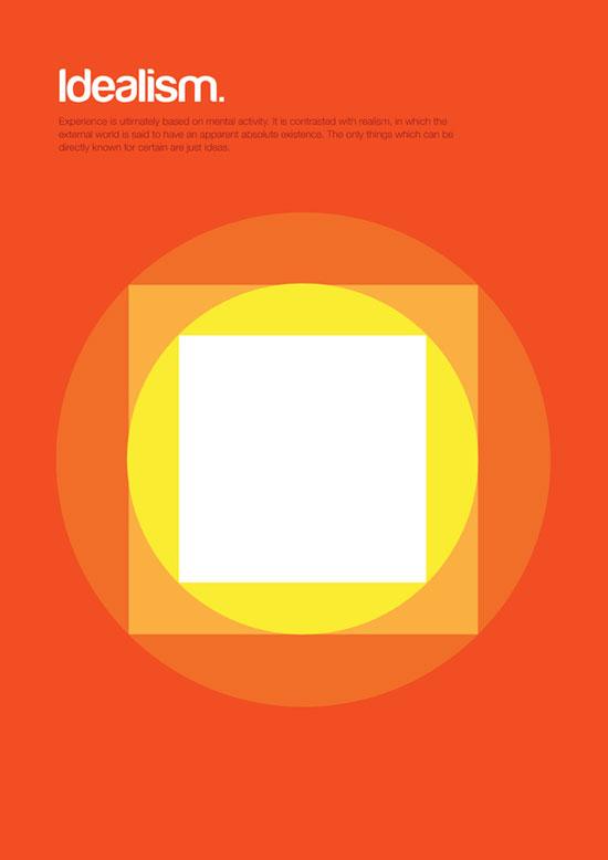 Idealism minimalist graphic design poster