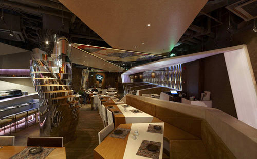 Haiku Sushi in Shanghai, China - Restaurants And Coffee Shops With Beautiful Interior Design
