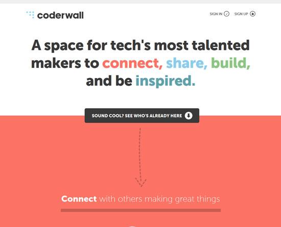 coderwall.com Site Design