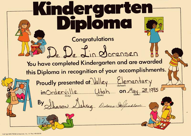 kindergartendiploma