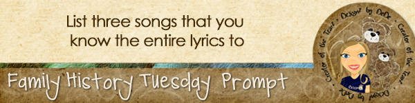 Journal Prompt: List three songs that you know the entire lyrics to.