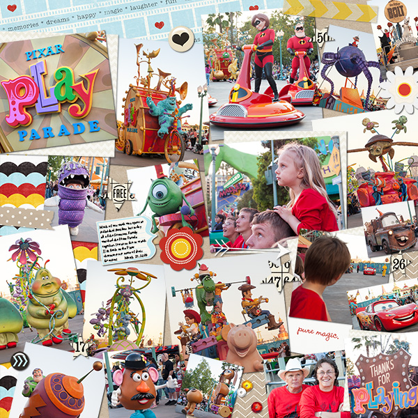 Pixar Play Parade Layout by DeDe Smith