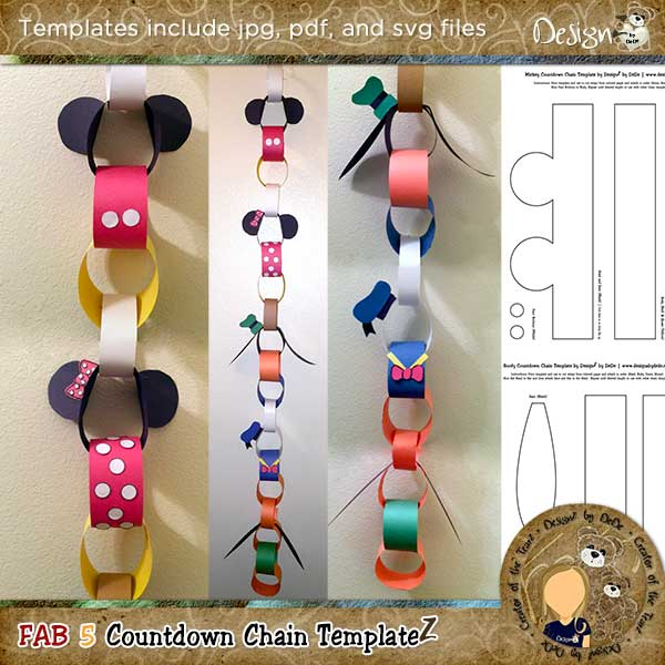 Fab 5 Countdown Chain Template by DesignZ by DeDe