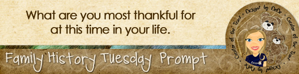 Journal prompt: What are you most thankful for at this time in your life?