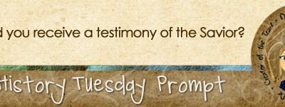 Journal Prompt: When did you receive a testimony of the Savior?