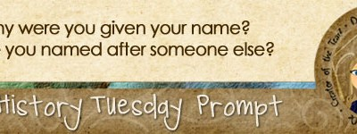 Journal Prompt: Why were you given your name? Were you named after someone else?
