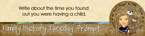 Journal prompt: Write about the time you found out you were having a child.