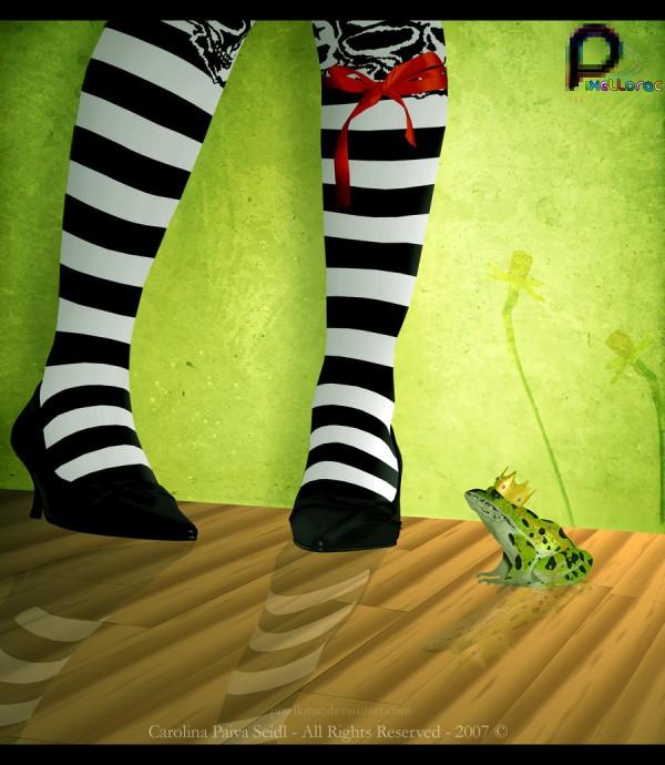 vexel illustration frog prince