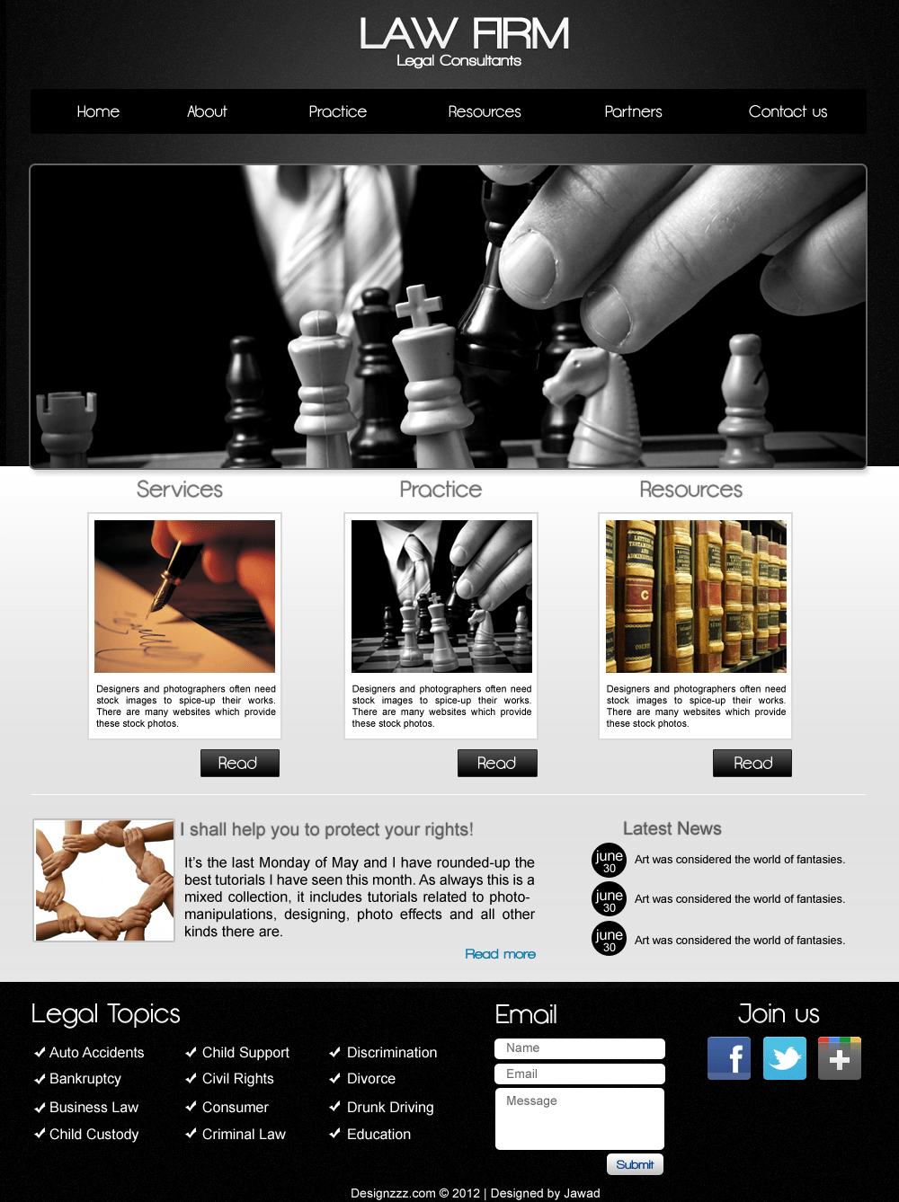 PSD Download of Law Firm Web Template