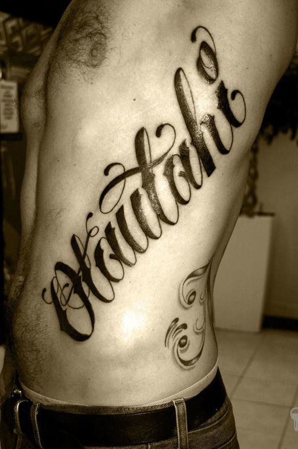 Name Tattoo Lettering Cursive Alphabet